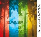 grunge summer holiday... | Shutterstock .eps vector #76053886