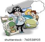 a salesman has been muzzled ... | Shutterstock . vector #760538935