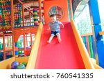 indoor playground with colorful ... | Shutterstock . vector #760541335