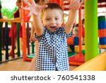indoor playground with colorful ... | Shutterstock . vector #760541338