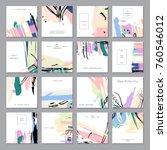 set of creative universal... | Shutterstock .eps vector #760546012