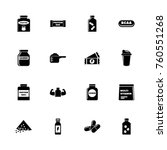 sport supplements icons  ... | Shutterstock .eps vector #760551268