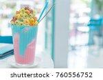pop colorful drink | Shutterstock . vector #760556752