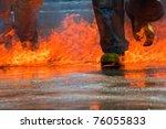 Two Men In Firefighting Suit...