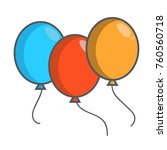three balloons icon | Shutterstock .eps vector #760560718
