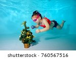 Child Underwater In The Pool...