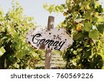 pretty wooden sign that says... | Shutterstock . vector #760569226