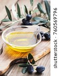 Olive Oil In Glass Bowl On A...