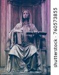 Medieval Gothic Statue  Prague  ...