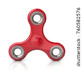 red fidget spinner stress... | Shutterstock . vector #760582576