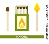 vector illustration of matches... | Shutterstock .eps vector #760585726