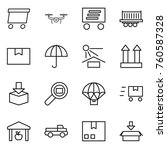 thin line icon set   delivery ... | Shutterstock .eps vector #760587328