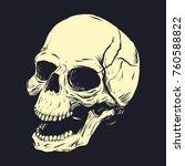 stencil of skull. vector clip...   Shutterstock .eps vector #760588822