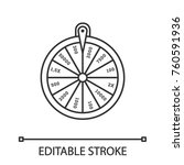 wheel of fortune linear icon.... | Shutterstock .eps vector #760591936