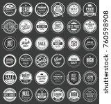 premium quality retro vintage... | Shutterstock .eps vector #760598908