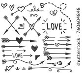 Hand Drawn Love Set  Vector