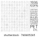 exclusive 1936 thin line icons... | Shutterstock .eps vector #760605265