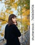 outdoor fashion portrait of... | Shutterstock . vector #760606936