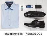 fashion set of businessman... | Shutterstock . vector #760609006