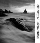 Small photo of The Strange Rock , Adraga beach, Sintra, Portugal