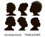 silhouettes of african american.... | Shutterstock . vector #760610485
