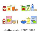 groups of doodle colored baby... | Shutterstock .eps vector #760613026