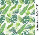 vector seamless pattern with... | Shutterstock .eps vector #760613245