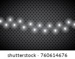 christmas lights isolated on... | Shutterstock .eps vector #760614676
