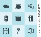 set of 9 change filled icons... | Shutterstock .eps vector #760615276