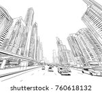 dubai. united arab emirates.... | Shutterstock .eps vector #760618132