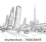 dubai. united arab emirates.... | Shutterstock .eps vector #760618645