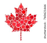 maple leaf dotted vector design ... | Shutterstock .eps vector #760621666