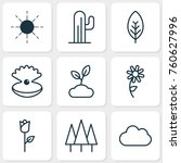 harmony icons set with plant ... | Shutterstock .eps vector #760627996