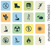 sign icons set with do not... | Shutterstock .eps vector #760628032