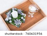 a cappuccino drink and... | Shutterstock . vector #760631956