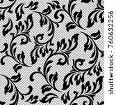 curly monogram. vintage vector. | Shutterstock .eps vector #760632256