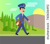 post service web banner. world...   Shutterstock . vector #760636492