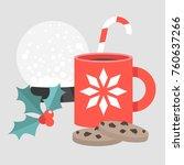 christmas snacks  chocolate...   Shutterstock .eps vector #760637266