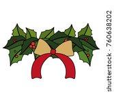christmas flower design   Shutterstock .eps vector #760638202