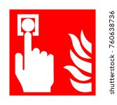 fire emergency icons. signs of ... | Shutterstock . vector #760638736