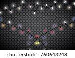 christmas lights isolated on... | Shutterstock .eps vector #760643248