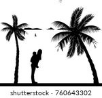 mother carrying a child... | Shutterstock .eps vector #760643302