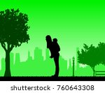mother carrying a child... | Shutterstock .eps vector #760643308