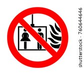 fire emergency icons. signs of ... | Shutterstock . vector #760644646