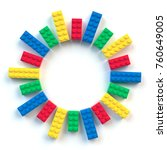 circle frame of colored toy... | Shutterstock . vector #760649005