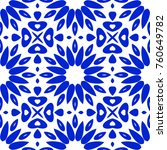 blue winter pattern with... | Shutterstock . vector #760649782
