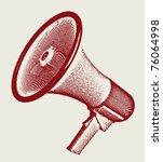engraving retro megaphone... | Shutterstock .eps vector #76064998