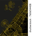 black and yellow vector city... | Shutterstock .eps vector #760654408