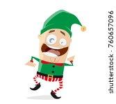happy dancing christmas elf... | Shutterstock .eps vector #760657096