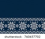 knitted christmas and new year... | Shutterstock .eps vector #760657702